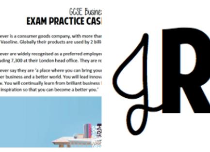 GCSE Casestudy & exam questions - Unilever
