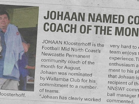 Johaan named coast's coach of the month