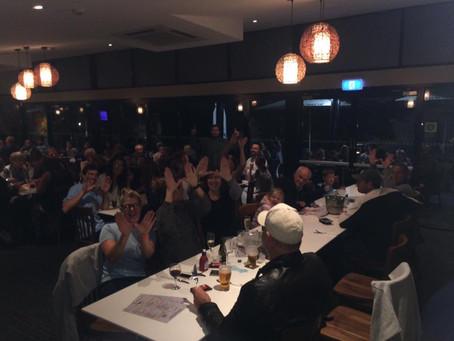 Wallamba 'W' flies at Nabiac Hotel raffle night