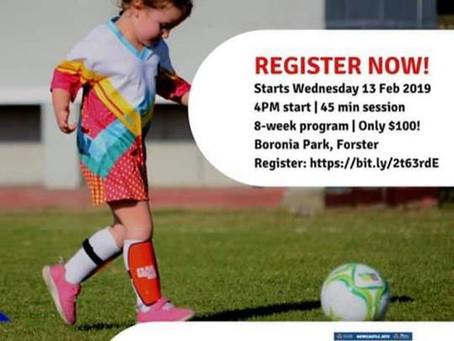 Kick off for girls pre-season program