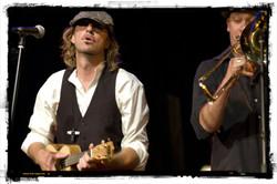 Hughie and trombonist Dan Barnett