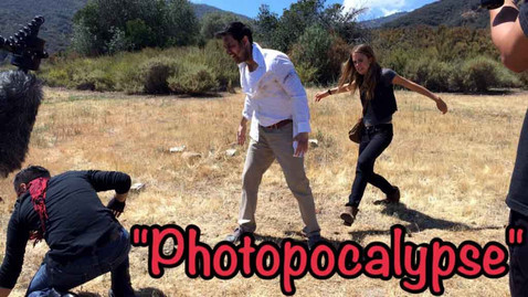 """Behind the scenes look at the """"Photopocalypse"""" Pilot (by Rebel Shoes Productions) where I played a ZOMBIE!"""