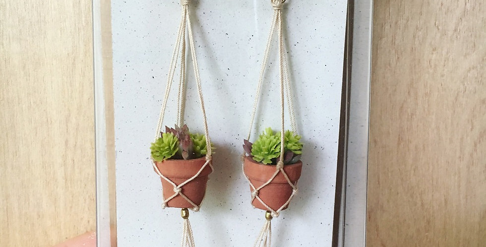 Mini Hanging Plant Earrings