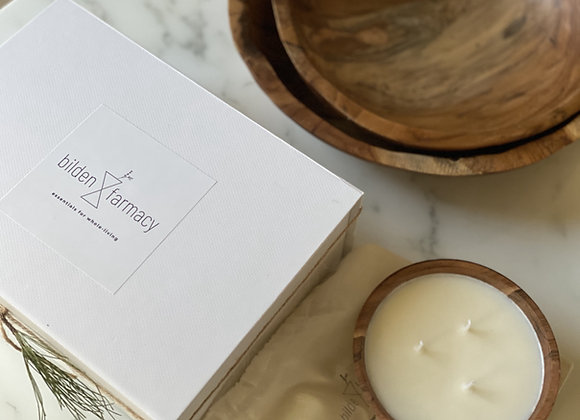 Meadow Wood bowl ☐ hand-poured soy wax candle