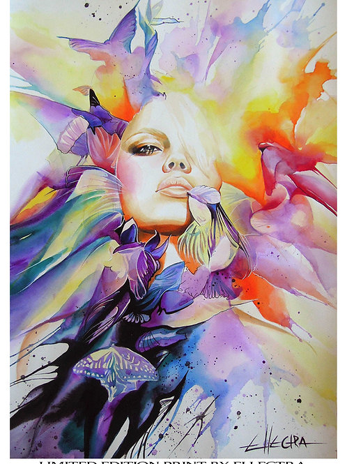 LIMITED EDITION PRINT BY ELLECTRA - BUTTERFLIES