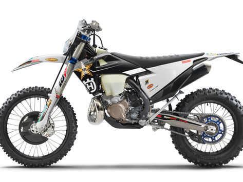 ROCKSTAR EDITION HUSQVARNA MOTORCYCLES' 2022 TE 300I AND FE 350