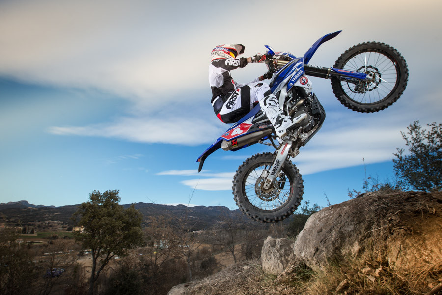 Loici Larrieu enduro motorcycle rider with the WF 450 Yamaha in 2016