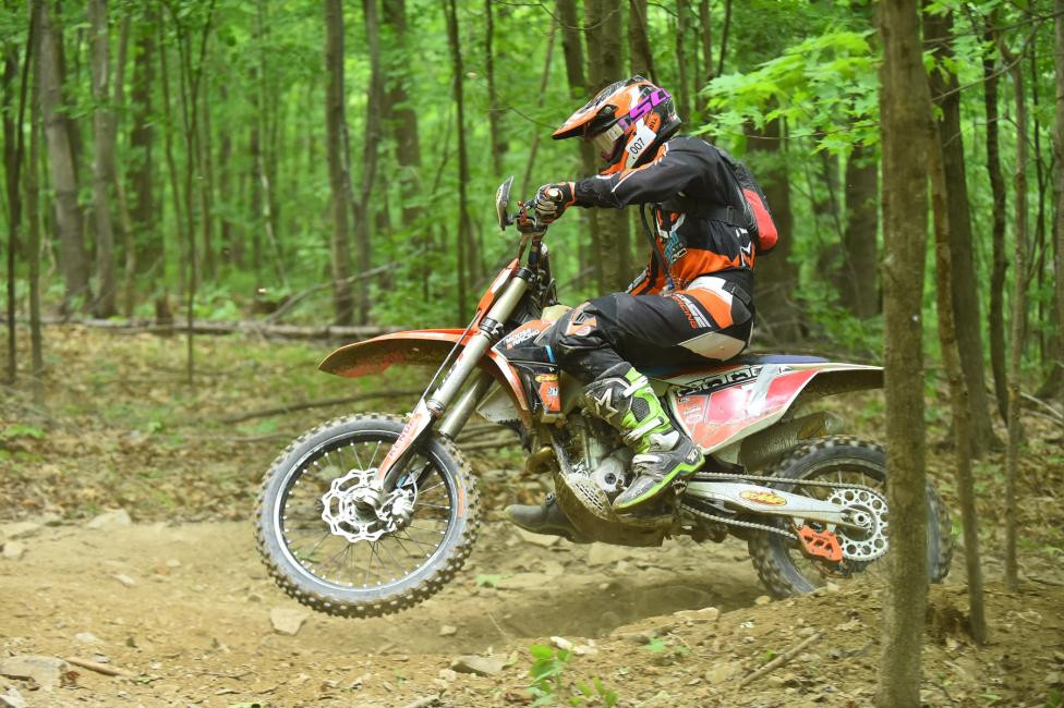 Jordan Ashburn came from a dead last start to finish third overall.Photo: Ken Hill