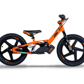 THE NEW KTM FACTORY REPLICA STACYC ELECTRIC BALANCE BIKES