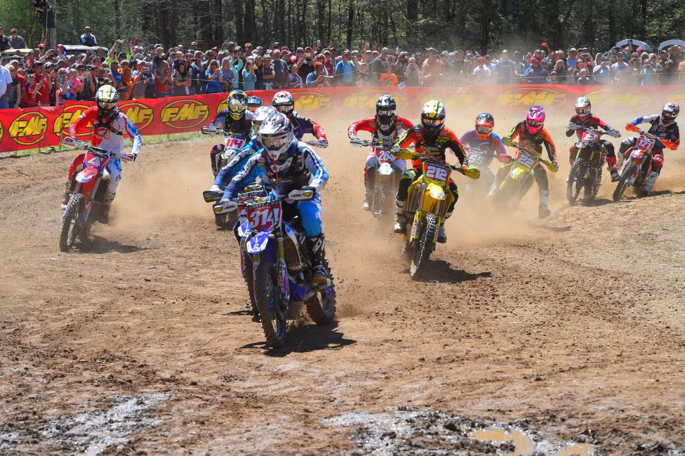 The XC1 Pro class put on quite a show for the Morganton, North Carolina GNCC fans. Photo: Ken Hill