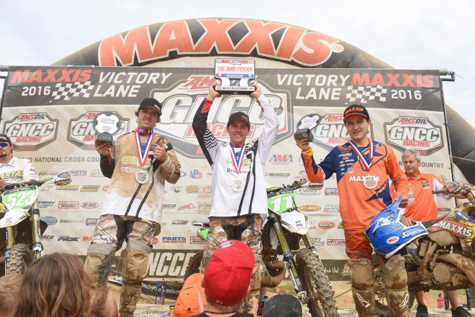 XC2 Pro Lites Podium: (2) Layne Michael, (1) Craig Delong, (3) Mike Witkowski.Photo: Ken Hill