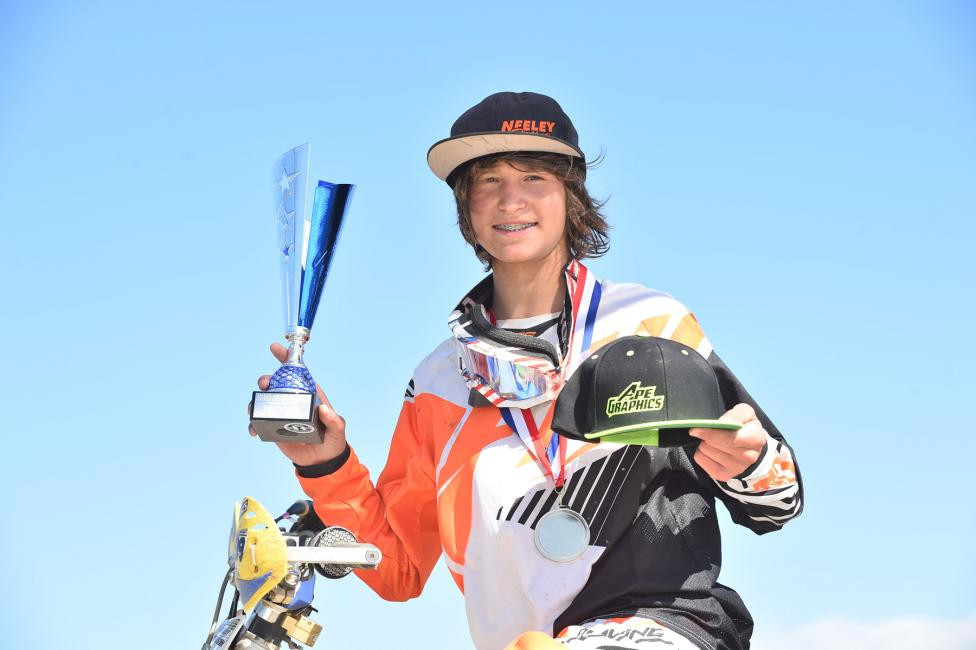 Zack Davidson worked his way from the second rowto take the overall win in the youth race.Photo: Ken Hill