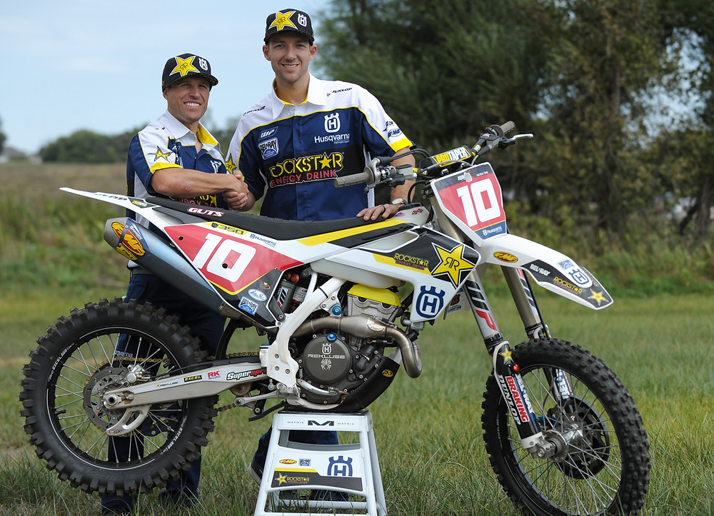 Team Manager Tim Weigand and Colton Haaker