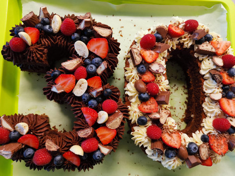 Number Cake #dirtythirty                   (eher #KinderschokoladenFanDeluxe)
