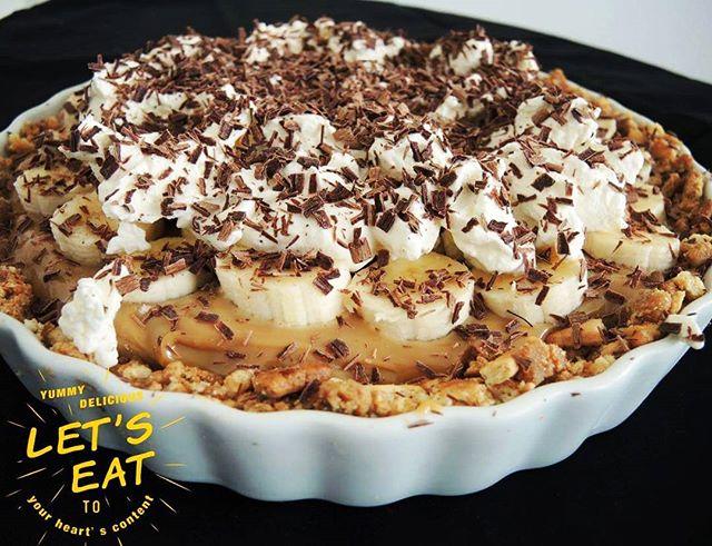 Banoffee Pie – eine englische Liaison aus Banane und Toffee..