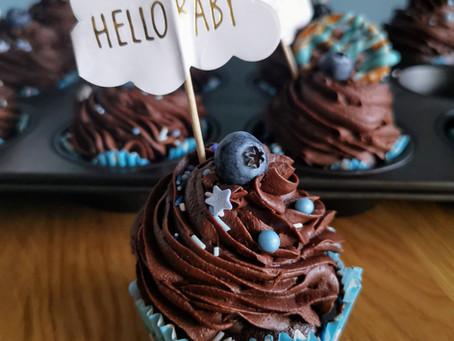 Schokoladen-Heidelbeer Cupcakes