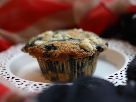 Blueberry Muffin mit Creamcheese Kern