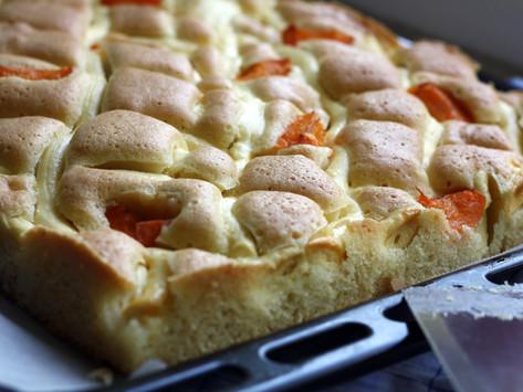 Marillen-Topfengitter Kuchen
