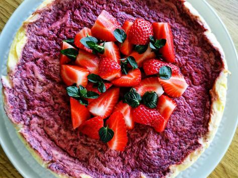 Low carb Erdbeere Cheesecake
