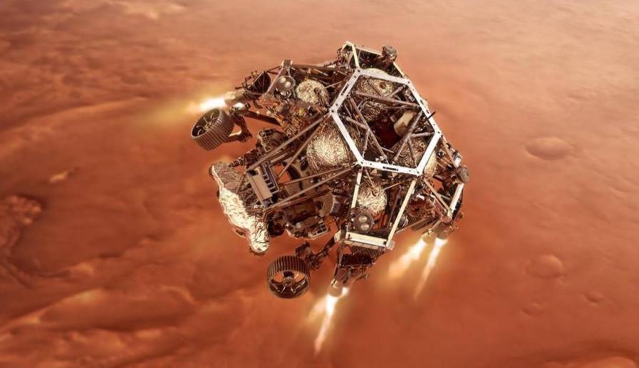 Perseverance llega con éxito a la superficie de Marte.