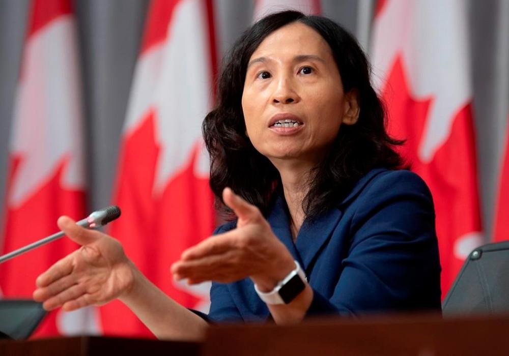 La directora de salud pública, Theresa Tam, responde a una pregunta durante una conferencia de prensa el martes 8 de septiembre de 2020 en Ottawa.