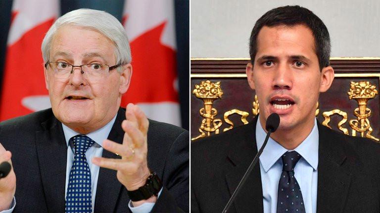 Marc Garneau, ministro de Exteriores de Canadá, mantuvo una charla con Juan Guaidó.