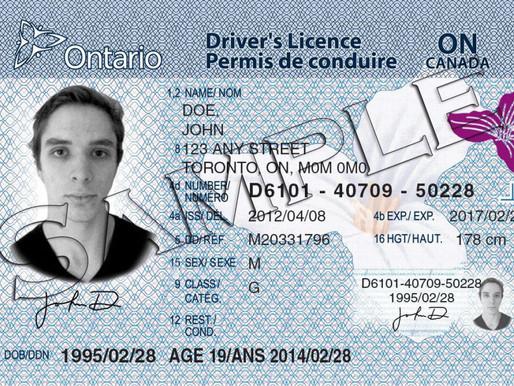 Extensión para renovar la licencia de conducir de Ontario sigue vigente