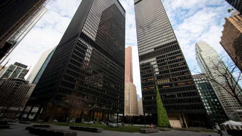 El distrito financiero de Toronto el viernes.