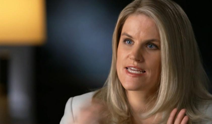 Frances Haugen aparece en esta captura de pantalla de una entrevista que concedió a CBS '60 Minutes el 3 de octubre.