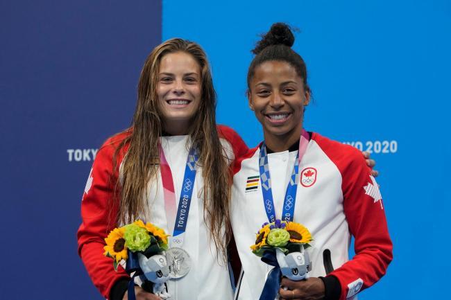 Jennifer Abel y Melissa Citrini-Beaulieu.