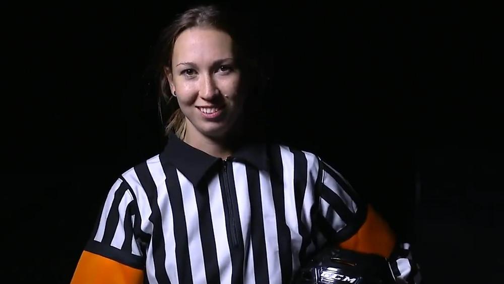 Kirsten Welsh en la NHL's Exposure Combine de 2019.