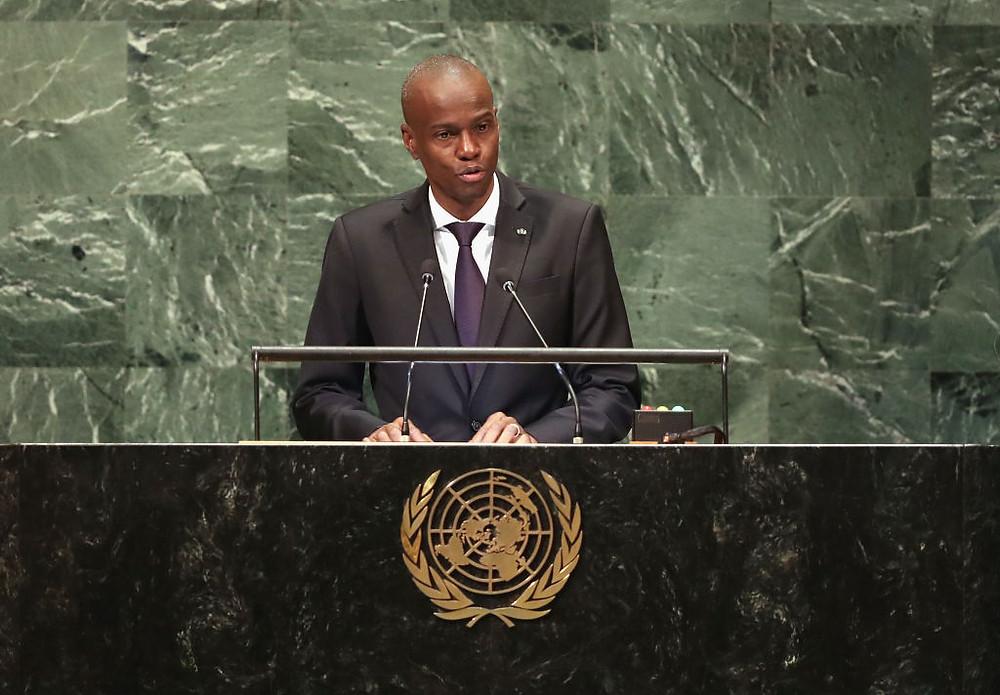 Jovenel Moïse habla durante la Asamblea General de la ONU de 2018.