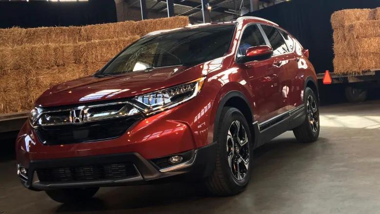 El Honda CRV 2017 se muestra cuando se lanzó en 2016. El año modelo 2018 de este automóvil fue el vehículo más robado en Canadá este año.