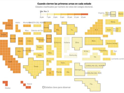 ¿A qué hora cierran las urnas en EE. UU.?
