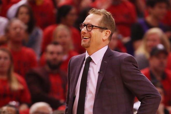 Nick Nurse, entrenador en jefe de los Toronto Raptors.