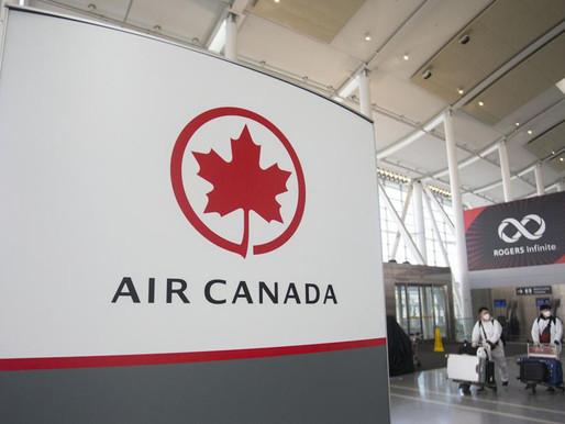 Altos ejecutivos de Air Canada devolverán voluntariamente sus bonificaciones del 2020
