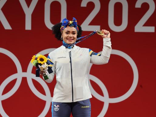 Neisi Dajomes, la primera mujer medallista olímpica de Ecuador