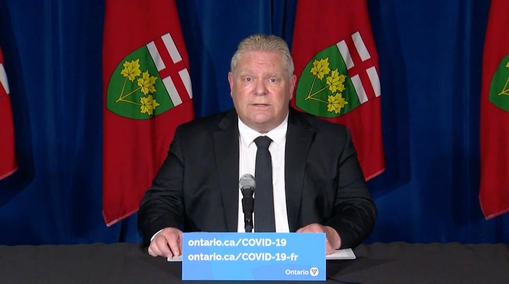 El Premier de Ontario, Doug Ford, anuncia restricciones estrictas sobre actividades al aire libre y viajes interprovinciales.
