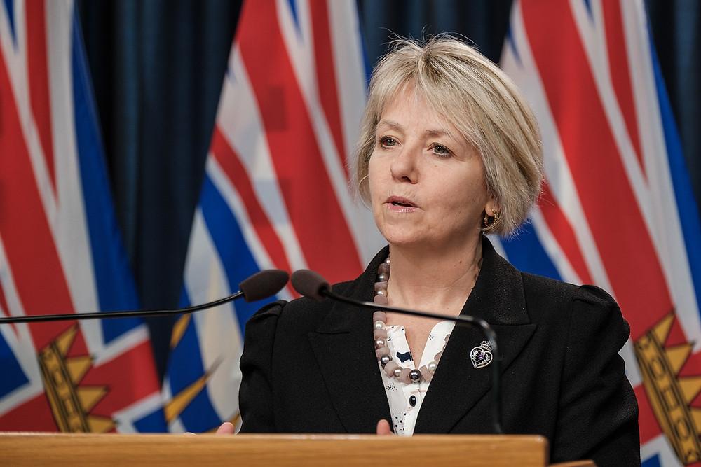 Dr. Bonnie Henry, Oficial Provincial de Salud de British Columbia.