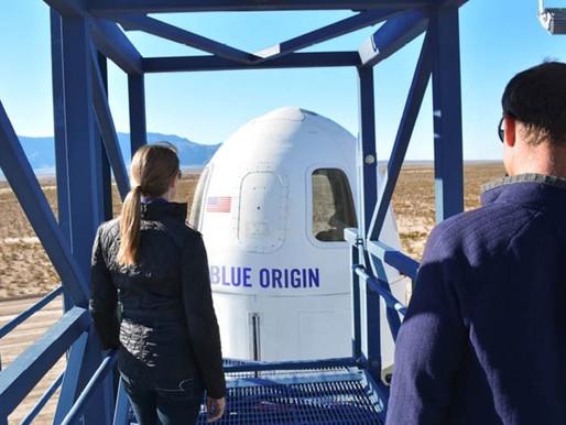 Jeff Bezos llega al espacio en el primer vuelo de pasajeros de Blue Origin