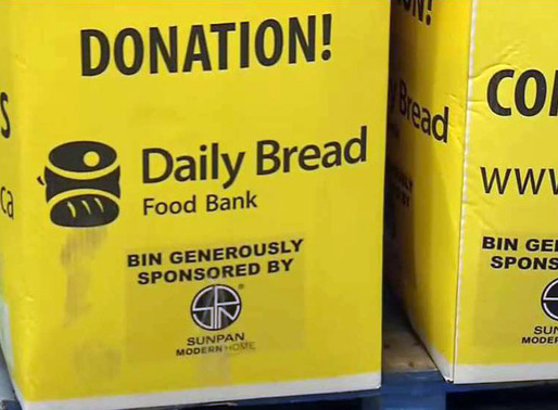 Número récord de visitas al Daily Bread Food Bank