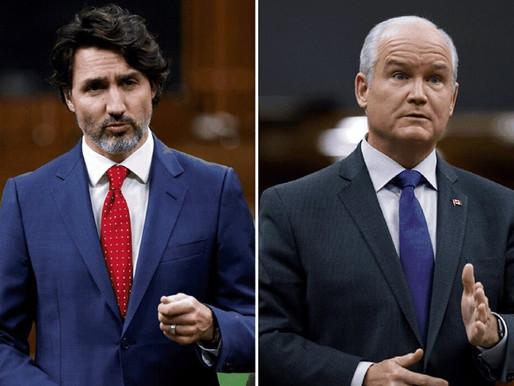 Trudeau y O'Toole cuentan con un apoyo similar antes de la recta final de la campaña electoral