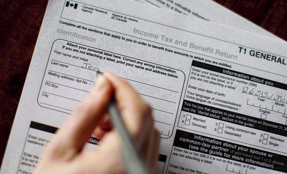 formulario de impuestos generales T1.