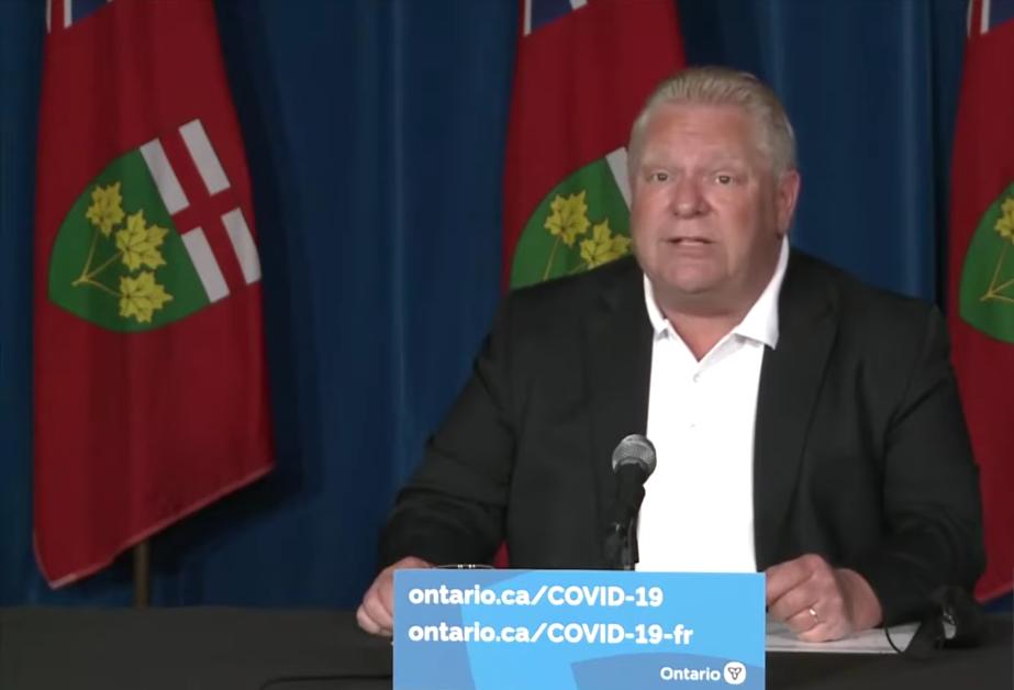 El premier de Ontario, Doug Ford, ofrece una actualización sobre el lanzamiento de la vacuna COVID-19 en Ontario a medida que avanza el calendario para las segundas dosis, el viernes 28 de Mayo del 2021.