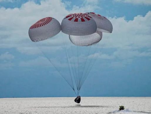 Tripulación civil a bordo de la cápsula SpaceX aterriza de forma segura en Florida