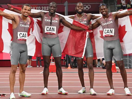 Canadá gana el bronce en los relevos olímpicos masculinos de 4x100 m