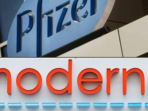 Comparación de las vacunas de Pfizer y Moderna