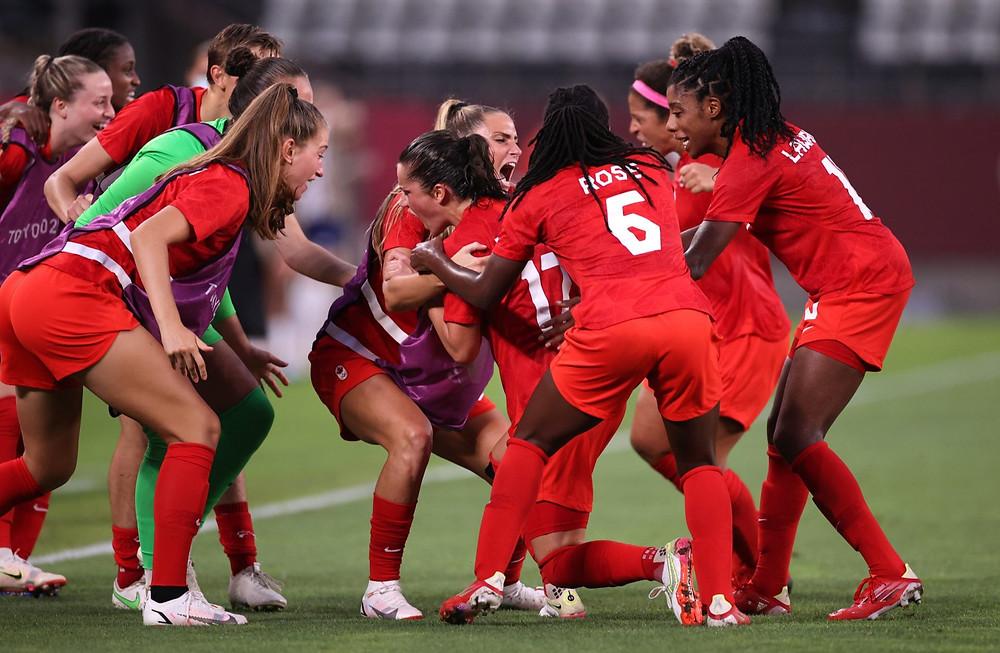 Canadá jugará por la medalla de oro con una histórica victoria 1: 0 sobre EE. UU. en Tokio 2020.