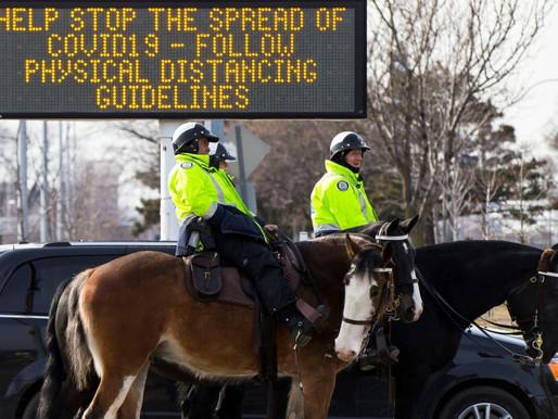 Se anuncian equipos de policías centrados en detener grandes reuniones en Toronto