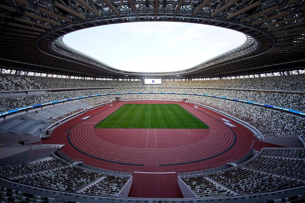 Vista interior del nuevo Estadio Nacional, sede de las ceremonias de apertura y clausura de los Juegos Olímpicos de Tokio.